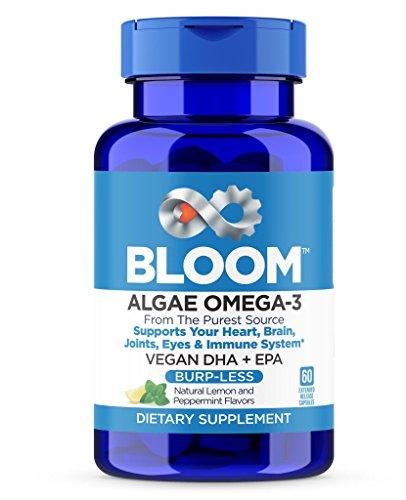 er Than Fish Oil! Plant Based, Algae DHA EPA DPA Supplement. Supports Heart, Brain, Joint, Prenatal & Immune System. No Carrageenan. Natural Lemon Flavor, 60 Vegetarian Capsules ()