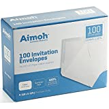 100 White A2 Invitation Envelopes - 4-3/8 X 5-3/4 Inches, 24 lb, White, GUMMED Closure, 100 Envelopes - Ideal for Invitations, Greetings, RSVP, Photo, Wedding Announcement Cards (36100)