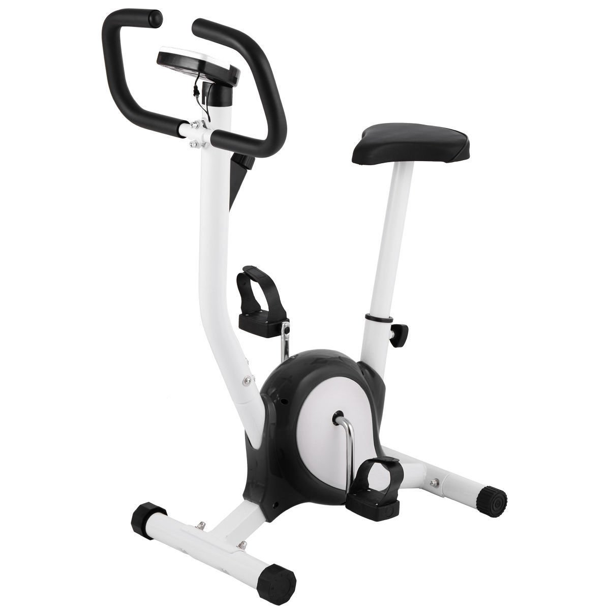 Eight24hours Exercise Bike Upright Cycling Health Fitness Bicycle Stationary Machine B&W