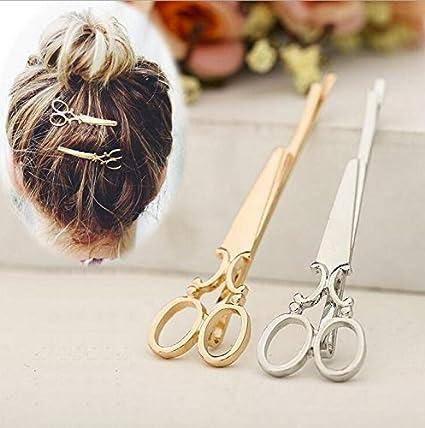 Haarspange Schere Friseur Haarklammer Haarnadel Haarschmuck Damen Haar Hair Clip