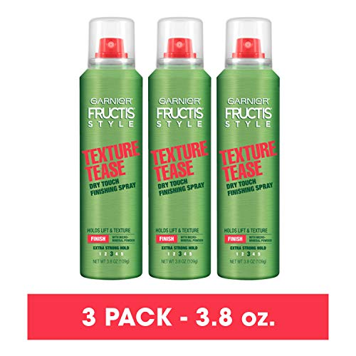 Garnier Fructis Style De-Constructed Texture Tease Dry Touch Finishing Spray, 3.8 Ounce (3 Count)