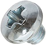 Steel Machine Screw, Zinc Plated Finish, Flat Head, Phillips Drive, Meets ASME B18.6.3, 7/8'' Length, Fully Threaded, #4-40 UNC Threads (Pack of 100)