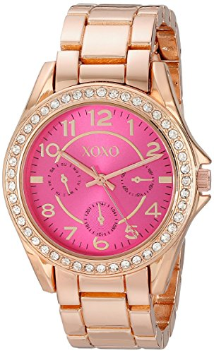 (XOXO Women's XO177 Analog Display Analog Quartz Rose Gold Watch)