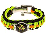 Zombie Paracord Bracelet - Biohazard (Survival Kit Series) Emergency Gear for Hiking, Camping, Climbing and other Outdoor Sports or Just Fun (Adjustable Metal Buckle)