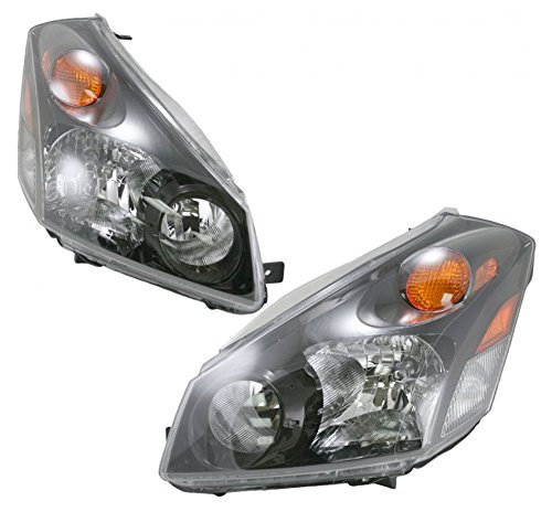 Headlights Headlamps Pair Set Left LH & Right RH for 04-09 Nissan Quest - Nissan Quest Headlamp Assembly