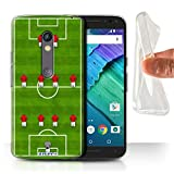 STUFF4 Gel TPU Phone Case / Cover for Motorola Moto X Play 2015 / 4-4-2/Red Design / Football Formation Collection