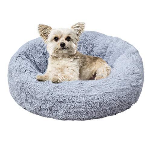AGRLTOGD Haustierbett, Rundes Plüsch Hundebett-Katzenbett-Hundehaus-Welpen-Kissen, Doughnut-Form Klein Hund Bett Weich…