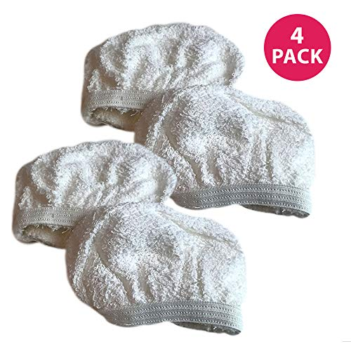 Think Crucial 4 Replacement for Dirt Devil Cleaning Pads Fit PD20005 & PD20020 Hand Held Steamers, Compatible With Part # 440001712, Washable & Reusable