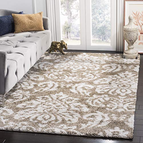 Safavieh Florida Shag Collection SG460-1311 Beige and Cream Area Rug 4 x 6