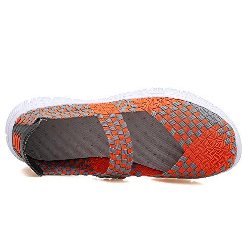 Mujer AIRAVATA Zapatillas Naranja para SH075 qqB1Awt