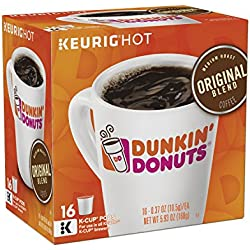Dunkin' Donuts Original Blend Coffee K-Cup Pods, Medium Roast, For Keurig Brewers, 64 Count