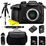 Panasonic Lumix DC GH5 Mirrorless Digital Camera + Buzz Pro Bundle Kit (black)