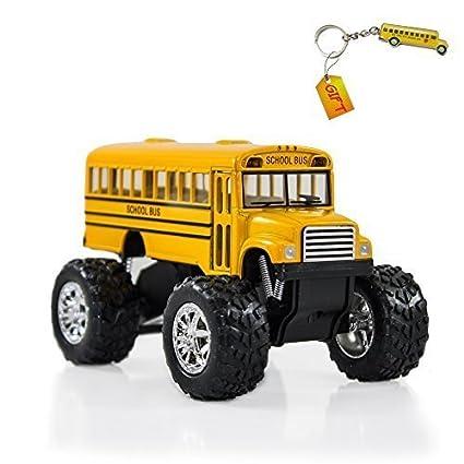 Amazon.com: Amarillo Monster autobús escolar – Big Wheel Die ...