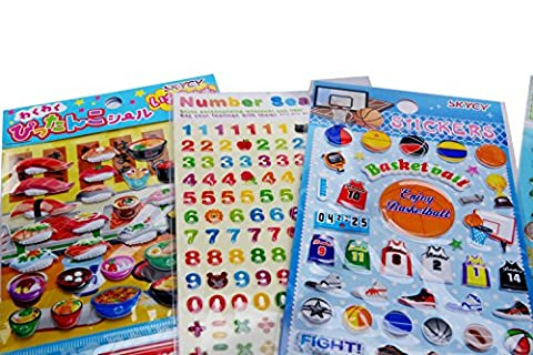 SKYCY Toddlers and Kids Puffy Stickers for Children (Girls and Boys), Great for goody bags,Puffy Sticker Activity Book(7 (Scratch And Sniff Stickers Bulk)