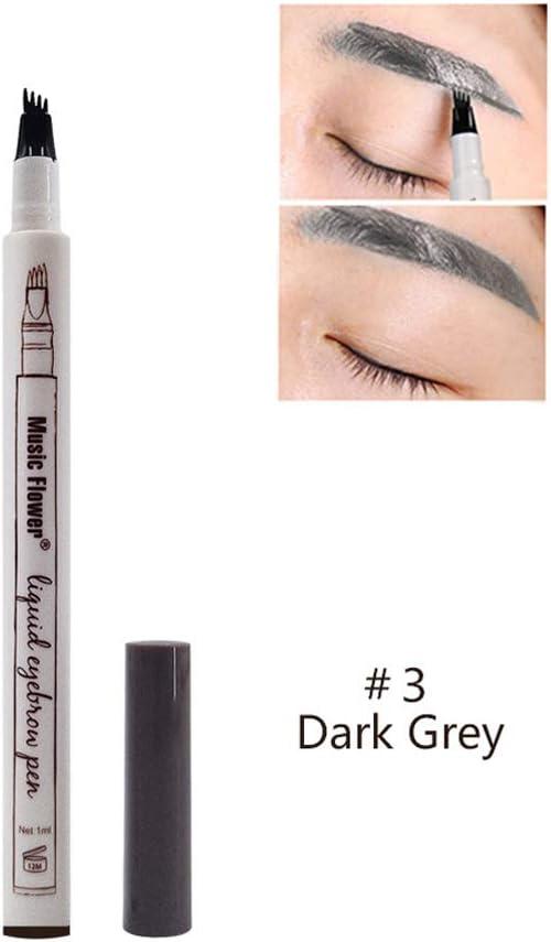 Lápiz para cejas, WEKNOWU Gel de crema para el tinte y tinte para tatuaje de cejas con cuatro puntas, Resistente al agua de larga duración para ...