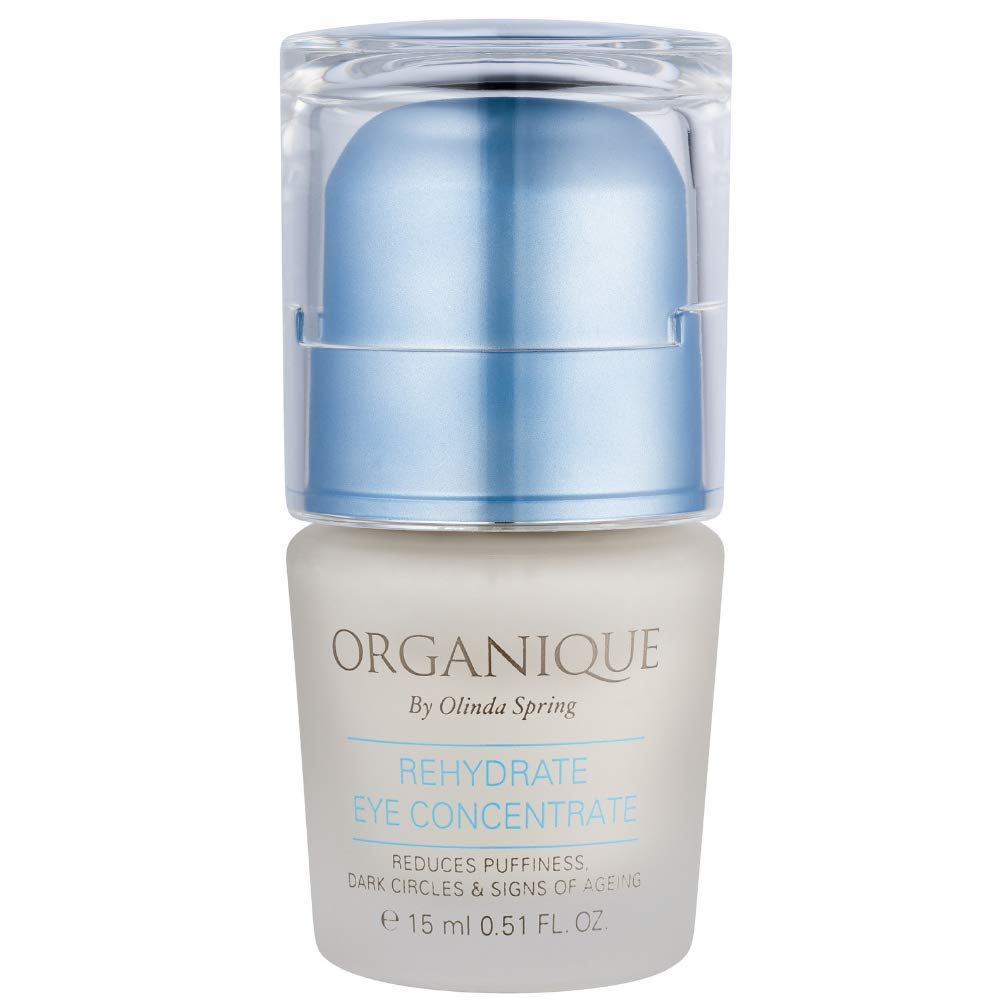 Rehydrate Eye Cream Serum by Organique     For Dark Circles, Puffiness, Under Eye Bags and Wrinkles   Hydrating Natural Ingredients   15 ML 0.51 Fl. Oz