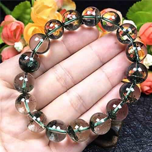 Genuine Natural Green Prehnite Gemstone Clear Bead Pendant Necklace 24x13mm AAAAA