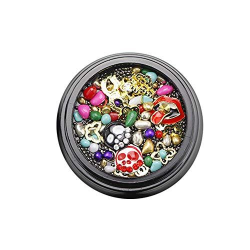 Christmas Halloween Theme Nail Art Rhinestone 3D Jewelry Diamond Accessories Nail Supplies Manicure DIY Decoration ToolsG309 ()