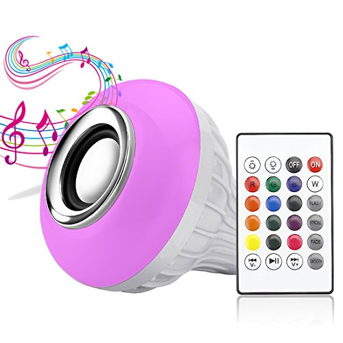 LED Music Light Bulb, E27 led light bulb with Bluetooth Speaker RGB Changing Color Lamp Built-in Audio Speaker with Remote Control for Home, Bedroom, Living Room, Party Decoration - Colorful Floor Lamp