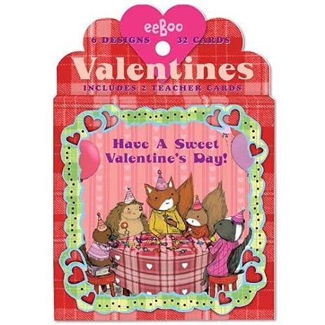 Amazoncom  Animal Village Valentine Cards  Greeting Cards