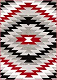 Well Woven AS-88-5 Bingo Dulcet Modern Area Rug, 5'3'' x 7'3'', Red