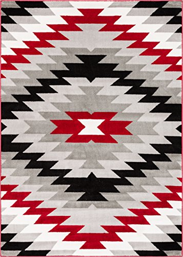 Well Woven AS-88-7 Bingo Dulcet Modern Area Rug, 7'10'' x 9'10'', Red by Well Woven