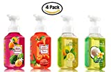 Brighten up your sinks all season long with this pack of 4 Summer Favorites from the Bath and Body Works Signature Collection of Gentle Foaming Hand Soaps. You receive FOUR (4) Foaming Hand Soaps -- 8.75 fl oz each -- one Watermelon Lemonade,...