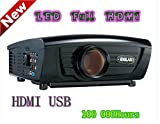 Digital Galaxy HDMI 720P HD Video,  	2800Lumens, 5-Inch TFT LCD Panel, 70W LED Lamp LCD Projector (DG-757)