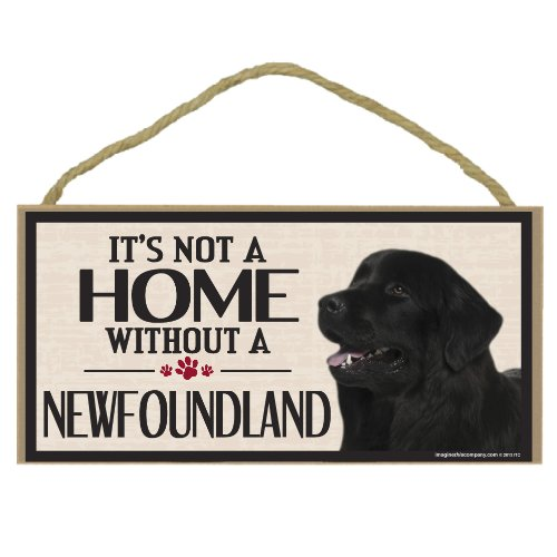 Imagine This Wood Sign for Newfoundland Dog Breeds