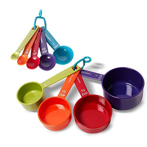 Farberware Color 9-Piece Plastic Measuring Cups and Spoons Set -