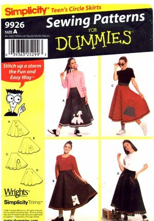 Simplicity 9926 Dummies Sewing Pattern 50's Style Poodle Skirt Waist 23 - 37 -