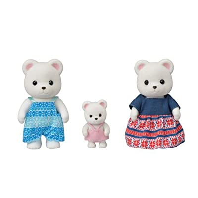 Sylvanian Families 5396 Polar Bear Family, Multi: Toys & Games