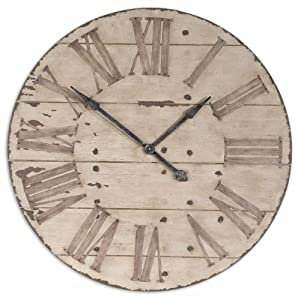 Amazon Com Large 36 Quot Lanier Rustic Wood Wall Clock Home