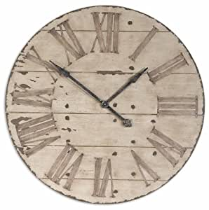 Large 36 Lanier Rustic Wood Wall Clock Home Kitchen