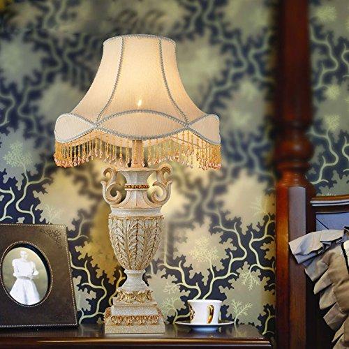 YFF@ILU Europäische Harz Tischleuchte Nachttischlampe Hochzeit kreativ Garten Schlafzimmer Nachttischlampe