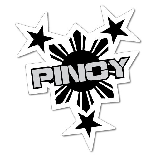 Pinoy Philippines Filipino Sticker Flag Bumper Water Proof Vinyl