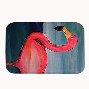 Rioengnakg A Giant Flamingo Badteppich Coral Fleece Bereich Teppich