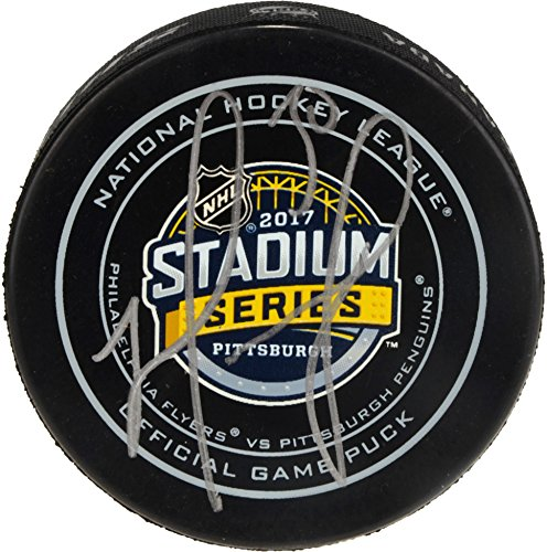 Matt Murray Pittsburgh Penguins Autographed 2017 Stadium Series Official Game Puck - Fanatics Authentic Certified