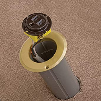 Bryant Electric RF151R Floor Box Kit Brass