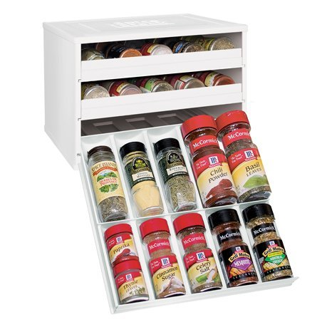 Original Manufacturers Bottle - YouCopia Chef's Edition 30-bottle SpiceStack Spice Rack Organizer, White (Discontinued by the Manufacturer)