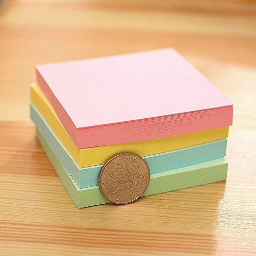 Set di 4 fogli adesivi per cancelleria colori assortiti Nikgic