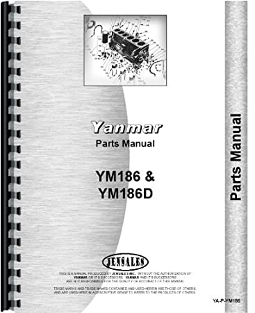 Yanmar YM186 Tractor Parts Manual: Amazon co uk: Garden