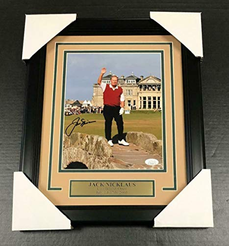 Signed Jack Nicklaus Photo - A2 LAST BRITISH OPEN FRAMED 8x10 COA - JSA Certified - Autographed Golf Photos
