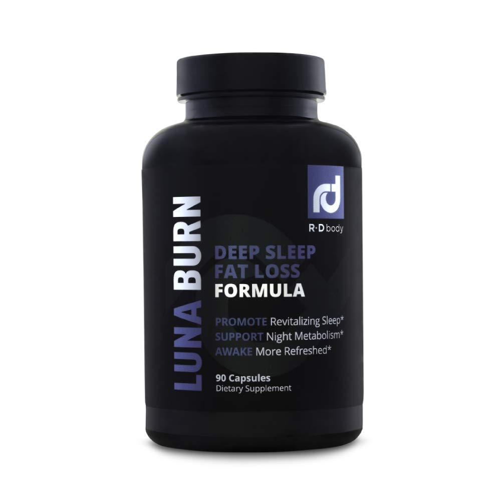 Luna Burn - PM Fat Burner, Sleep Aid, Boosts Metabolism, Weight Loss for Women and Men - Burn Fat While You Sleep by R+D Body