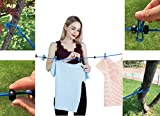 Scrub Green Portable Travel Elastic Clothesline
