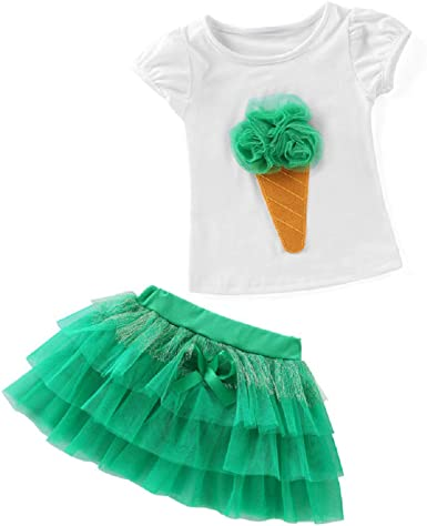 Falda tutú para niña - Tul - Camiseta - Manga Corta - Traje ...