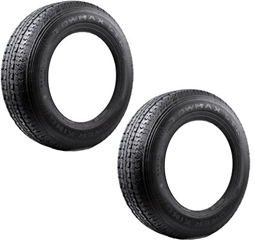 2-Pack TowMax Radial Trailer Tires ST215-75R14 Load Range C 1870# 50PSI 6-Ply (215 75 R14 Trailer Tires)