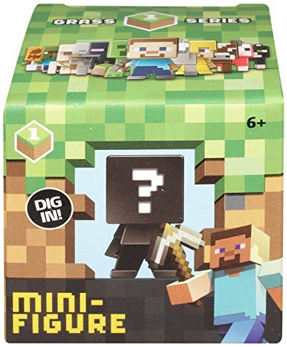 3-pack Minecraft Collectible Mini-figure Mystery Blind Box Grass Series 1