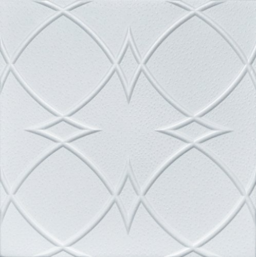 Euro-Deco Ceilings, Inc. Styrofoam Glue Up Ceiling Tiles White 20x20 R23W Pack of 8 (Best Emulsion Paint Sprayer)