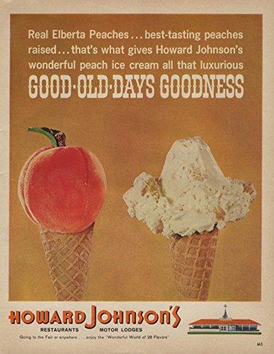 Cream Johnsons Ice Howard (Good Old Days Goodness Howard Johnson's Peach Ice Cream ad 1964)